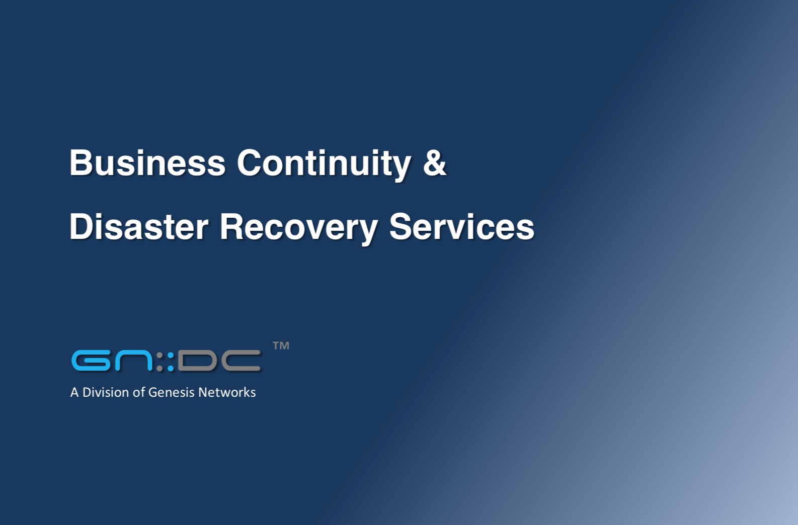 Business Continuity & Disaster Recovery Services